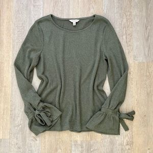 Lucky Brand Sweaters - Lucky Brand Tie Sleeve Thermal Top